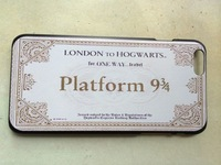 Free shipping Harry Potter Platform Hogwarts Express Train Ticket  Hard case cover for iphone 6 6 plus 5s 5 4s 4
