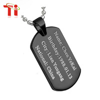 Customize diy  your pendant can engrave photo tungsten necklaces & pendants dog tag ID tags for man