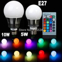 Limited Time Offer Newest 5w/10w E27 LED RGB bulb AC85~265V LED Bulb Light Spot Light LED Lamp +Romote controller Bright