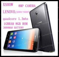 "FREEshipping  lenovo S660 s668t Quad core  4.7""  IPS 1GB RAM  8MP camera Dual SIM GPS Android 4.2  phone 3000mah battery"