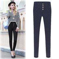 Spring&Autumn, Good Elastic All-Match Cotton Women Pencil Pants, Ladies Casual Trousers