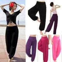 Big size Details about WOMEN Lady Harem Yoga Cotton Comfy Long Pants Belly Dance Boho Wide Trousers New