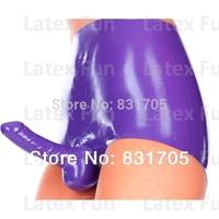 Hot Short Pants Latex Sexy 0.4MM Condom Women Clubwear Pants