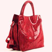High Class Genuine Leather Elegent Lady's Snake Grain Big Bags Designer Multi Function tote Handbags*Free Shipping S0828
