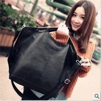 NEW 2014 women handbag large women messenger bags all-match street popular rivet bag women leather handbags shoulder bags totes