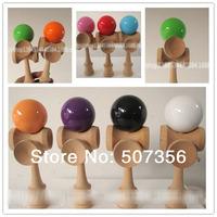 Via Fedex/EMS,   5 Cup Kendama Ball Japanese Traditional Wood Game Kids Toy Beech Kendamas, 100PCS