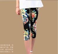 2014 new flower legging pants floral women Summer women's slim hip outerwear womens free shipping leggings