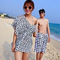 New 2015 SwimSuit Woman Summer Paid Printed Bikini Ladies Swimwear Push Up Sexy Bathing Suit Couple Swimming Sets