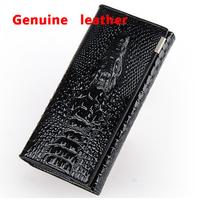 NEW 2014 brands crocodile grain leather purse, fashion women's wallet, hand bag, mobile phone bags, 4 color optional wholesale