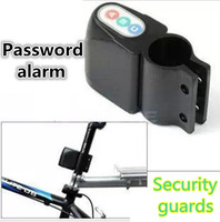 2PCS/LOT Excellent Security Alarm Security Bicycle Steal Lock Bike Bicycle alarm with Retail Packaging Black /Free Shipping