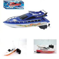 New 2014 Fashion Powerfull Plastic Remote Control Boats Speed Electric Toys Model Ship Sailing Children Game Kids Ship GWWJ38