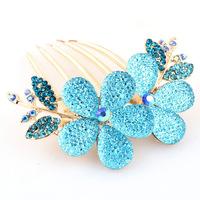 Professional diamond -studded Korean dish hair accessories hair plug Starry Rhinestone new flower  free shipping