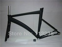 Crazy Price 54/56/58cm  Fixie Fixed Gear Bicycle Frame and Carbon Fork with Headsets+Stem+Seatpost Clamp Bike Parts