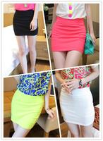 New 2014 summer neon Skirts color slim hip skirt a bust  short skirt women Skirts S11