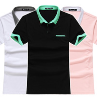 New 2014 Men's Unique Brand Of Polo Shirt Turn-down Collar Design