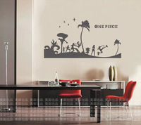 Free shipping ONE PIECE Car Wall Stickers Japanese Decals Vinyl Decal Sticker Home Decoration