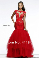 21261 Breathtaking ornate V Back lace applique beaded ruched midsection layered tulle Prom Dress
