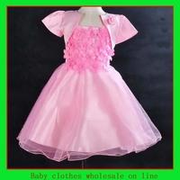 Dresses baby flower 4 color princess children kids dress christening dress 2014 baby girl fashion dress baby girl clothes