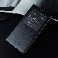 Luxury PU Leather Case with Smart View For Samsung Galaxy Note 3 N9000 S-View With Intelligent Chip Wake Up Sleep Function