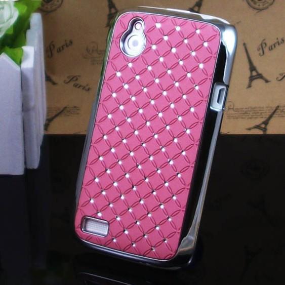10colors For HTC Desire V Case Cover Fits Desire V Luxury Diamante Diamond Bling Chrome(China (Mainland))