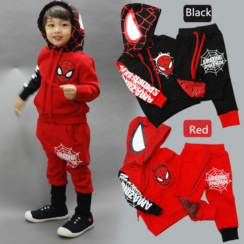 Retail free shipping 2015 new Spring children's clothing spider man costume spiderman suit spider-man costume Children's Sets(China (Mainland))