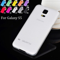 0.3mm Ultra Thin Slim Matte Frosted Transparent Clear Soft PP Cover Case Skin Shell for Samsung Galaxy S5 SV i9600 100pcs/lot