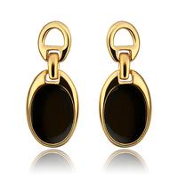 New Fashion Jewelry,18K Gold Plated Drop Earrings,Stud Black Beans Earrings,Best Gift Free Shipping,For Women,KE819