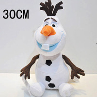 2014 Hot Sell Cartoon Movie Toy Lovely Frozen Olaf the Snowman Plush Doll Stuffed 30cm Cotton Olaf Toys High Quality