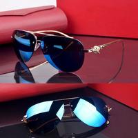 2014 Luxury Brand Designer Women Men Rimless Sunglasses Retro Oversized Designer Sunglasses Free Shipping