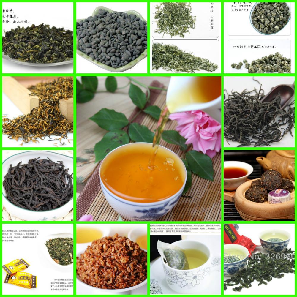 Promotion 24 Bags Chinese TOP Grade Tea including Black/Green/Jasmine Tea,Puer,Tieguanyin,Dahongpao Oolong Tea + Secret Gift(China (Mainland))