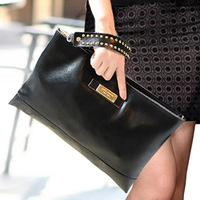 Free Shipping 2014 New European and American Big Female Leather Shoulder Bag High-grade Leather Handbag Women Clutch Free Mail