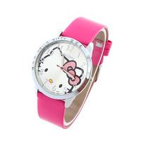 Children Cartoon Watches Kids Hello Kitty Wristwatches Quartz Watch Cute Girls' Gift Fashion watch for Students Coupon Cheap