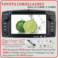 A5 6.2 inch Toyota Corolla 2003 bluetooth  radio tv   gps  ipod  3G WIFI  car dvd player