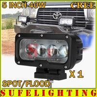 Free DHL Shipping NEW 2PCS 5INCH 40W CREE LED WORK LIGHT SPOT FOG LIGHT OFFROAD MACHINERY 4WD ATV SUV USE LED DRIVING LIGHT 60W