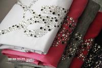 Women's T-shirt  2014 new fashion brand T-shirt 100% cotton rhinestones Letters T shirt  female Free shipping