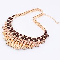 LNN03 Ladies Women's Geometric Candy Coloured Tribal Necklace Chocker Torque Free Drop Shipping