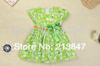 2014 Fashion Kid's Dresses Cute Little Girls Dress Summer Baby Girl Dress Girl Retail Infant Dress Baby Clothing For Girl