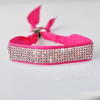 New Brand Design Bracelets & Bangles Fashion Jewelry Svarovski Crystal Silk Adjustable Rope Handmade Bracelet China Air Express