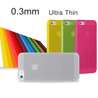 For iPhone 5 0.3mm Ultra Thin Slim Matte Back Case Cover for iPhone 5S Phone Cases, Free Shipping