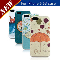 Durable Easy To Clean Hard Plastic Case for iphone 5 5s 5g,Lovely Cute Shell Protective Back Cheap Cover 50pcs/lot Free Shipping