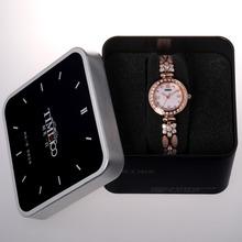 TIME100 Women s Bracelet Watch Reloj Mujer Diamond Pearl Shell Dial Steel Band Ladies Dress Watch