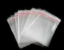 hot-  200 PCs Clear Self Adhesive Seal Plastic Bags 6x4cm (B04010)(China (Mainland))
