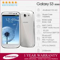 "I9300 Original samsung galaxy s3 S III SIII i9300 Unlocked Quad-Core Mobile phone 4.8"" 16GB 8MP 3G 1080P Wifi GPS Refurbished"