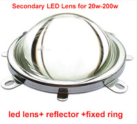 44mm led lens +refector +fixed ring for 20-200w led ,DIY system
