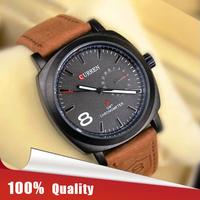 100% Quality CURREN 3ATM Waterproof Quartz Business Men's Watches Men Military Watches Men's Leather Strap Sports Watches