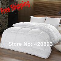 Free Shipping Family Set Quilt 1 x Winter Quilt +1 x Summer Quilt Microfiber Fabric Comforter Set