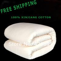 Free Shipping Wholesale Xinjiang Cotton Quilt Long-staple Cotton Bedding and Mattress Twin Queen Comforter Summer Quilt