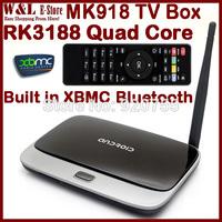 CS918 MK888 Bluetooth MK888B MK918 Android TV Box XBMC Quad Core MINI PC RK3188 2GB RAM 8GB ROM WIFI RJ45 AV Smart TV BOX