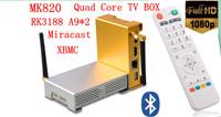 [Mdear MK820] quad-core Metal TV BOX network TV BOX, RK3188, 2gbDD3 8gbFlash, WIFI antenna, bluetooth, XBMC Free Shipping