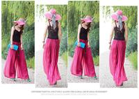 2014 Spring summer Fashion wide leg pants chiffon ubiquitous skorts culottes casual pants bohemia dress